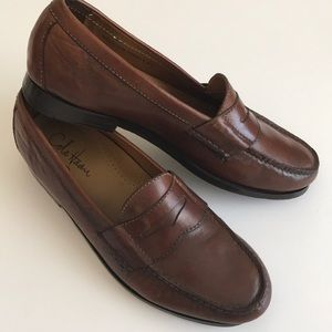 Cole Haan men's leather Nike Air penny loafers
